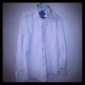 Robert Graham White Button Down Shirt